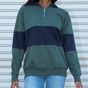 Brandy Melville striped pullover jacket sweatshirt